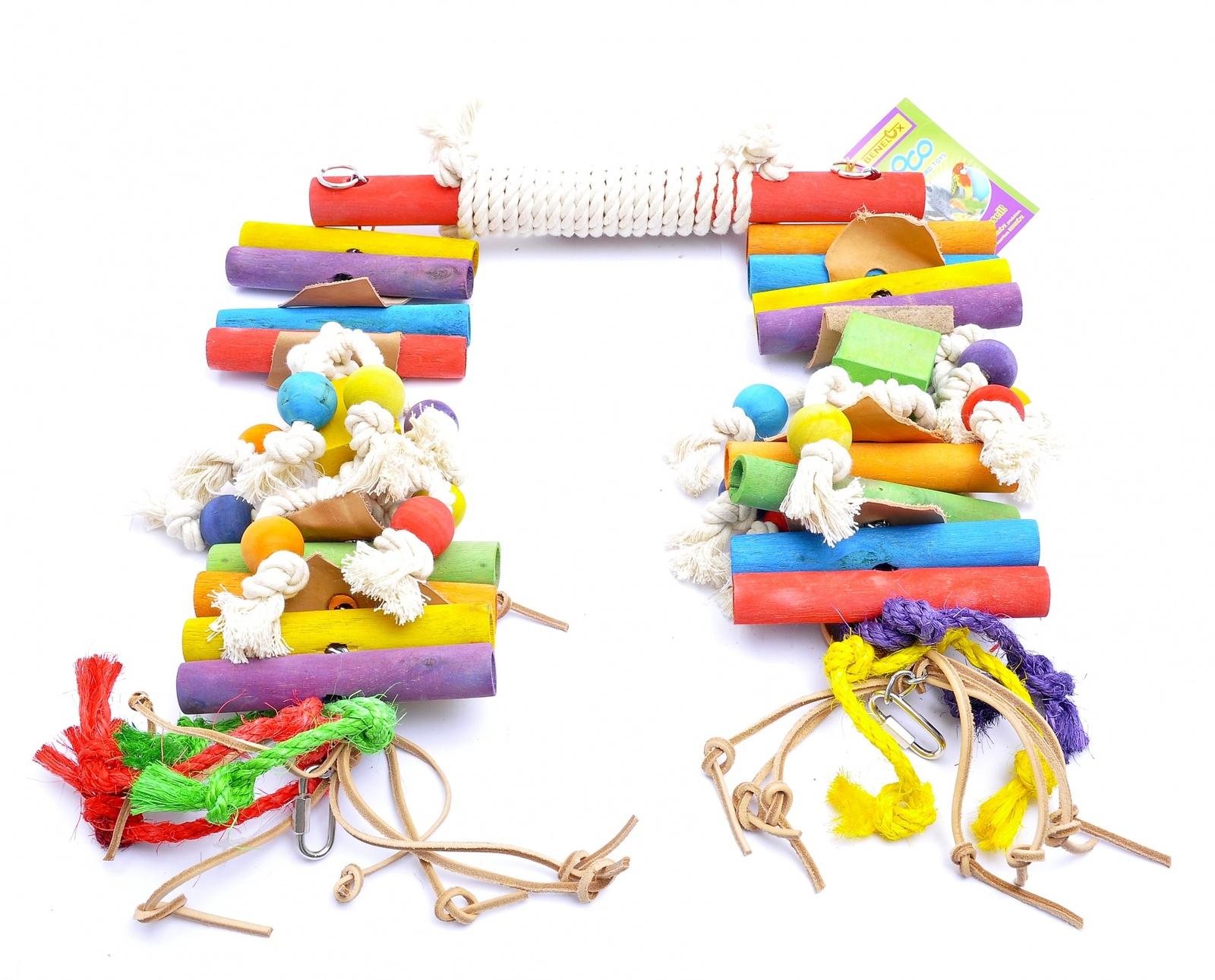 """Benelux Качелька XXL для длиннохвостых попугаев """"Кокос"""" 37*14*43 см - 2 кг (Coco toy xxl for parrot/parrakeet Super Swing) 14213 от Ravta"""
