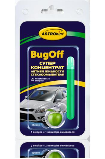Стеклоомывающая летняя жидкость «BUGoff» Astrohim AC-4117 концентрат (лето), яблоко, блистер от Ravta
