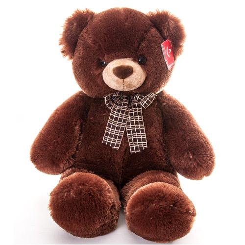 Мягкая игрушка Медведь коричневый с бантом 69 см, Aurora 30-349Мягкие игрушки<br><br><br>Артикул: 30-349<br>Бренд: Aurora