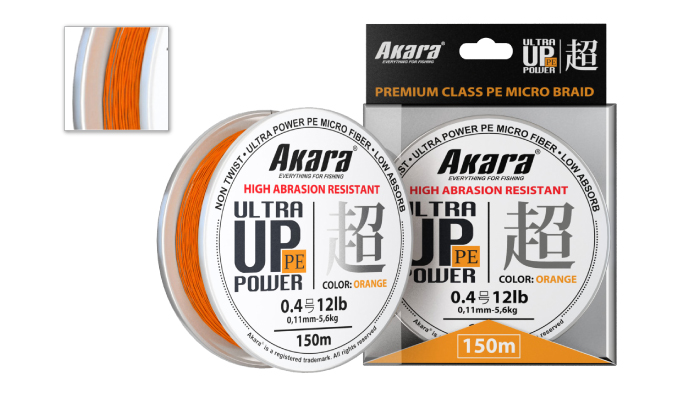 Шнур Akara Ultra Power PE Micro Braid Orange 150 м 0,15 от Ravta