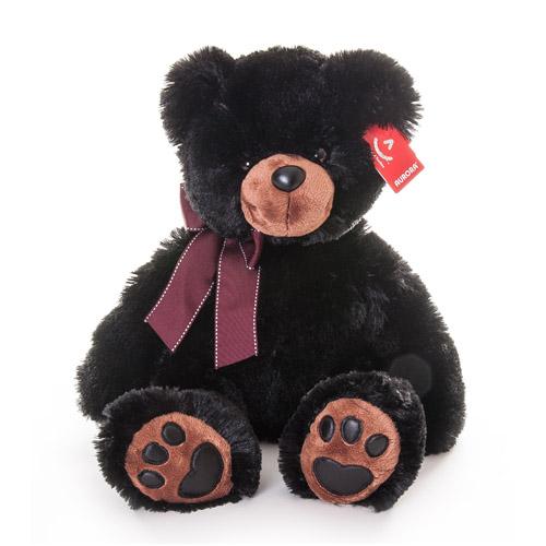 Мягкая игрушка Медведь чёрный 50 см, Aurora 31-093Мягкие игрушки<br><br><br>Артикул: 31-093<br>Бренд: Aurora