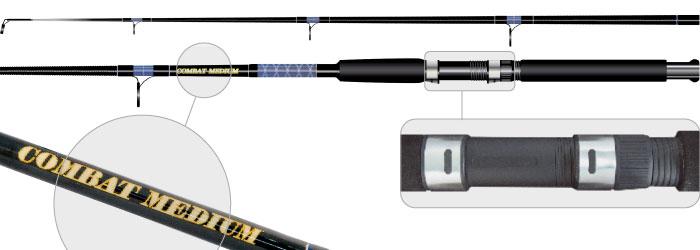Удилище тролл. ст/пласт. 2 колена Surf Master 1372 Combat Medium (50-100) 2,4 м от Ravta