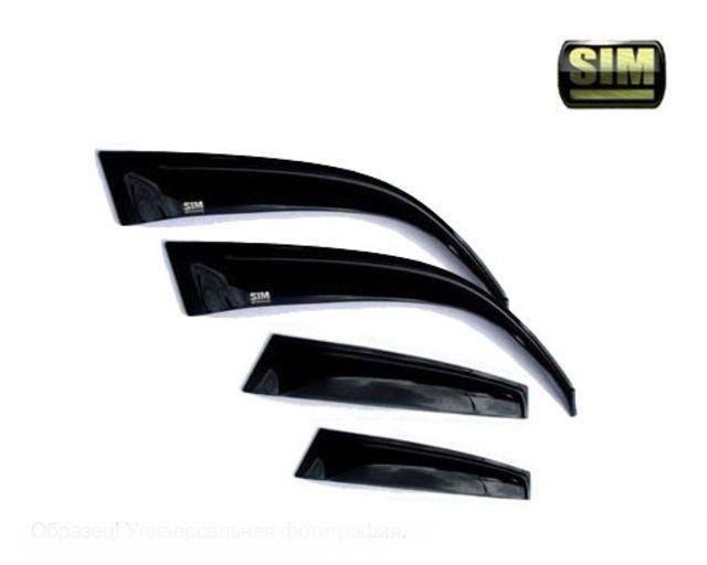 Дефлекторы SIM боковых окон Mazda (Мазда) 6 (2008-) (темный) от Ravta