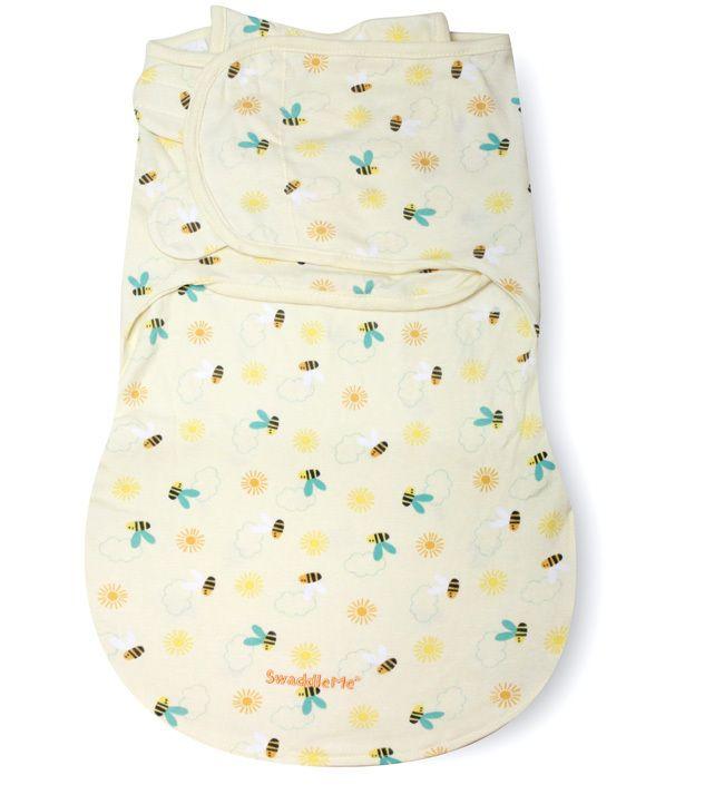Конверт для пеленания на липучке SwaddleMe WrapSack (цвет - Пчелки (размер S)), Summer Infant от Ravta