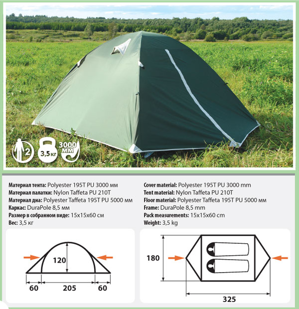 Палатка Comfortika Trekker 2 Plus от Ravta