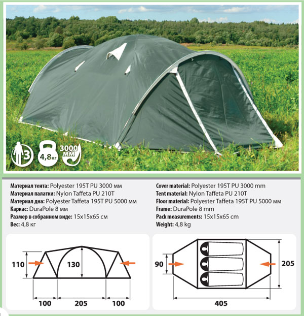 Палатка Comfortika Pamir 3 Plus от Ravta