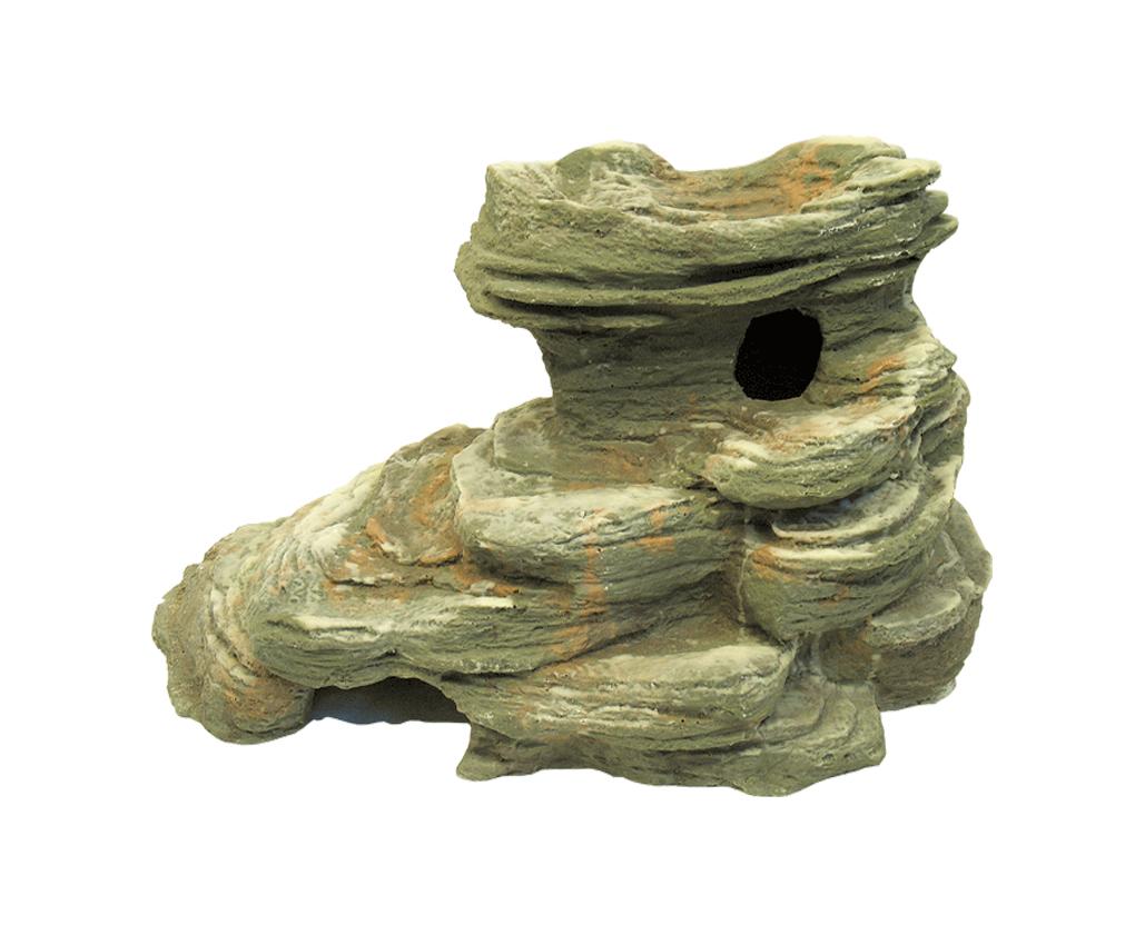 Скала с норой д/террариума, зеленая, 44х25х24 см от Ravta