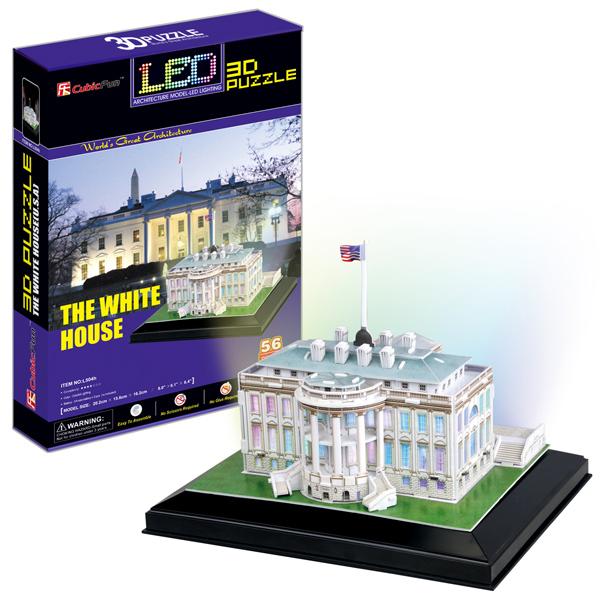 Объемный 3d Пазл Белый дом с иллюминацией (Вашингтон), CubicFun L504h от Ravta