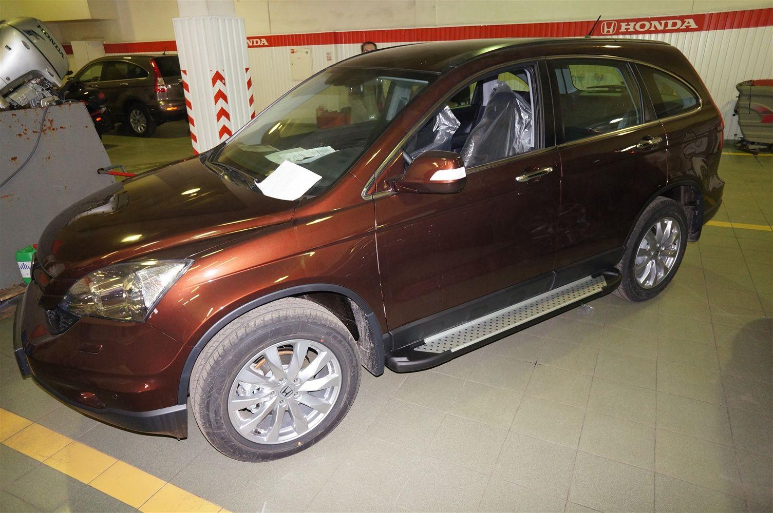 Пороги CAN OTOMOTIV алюминиевые (Sapphire Silver) Honda (Хонда) CR-V (2007-2012) от Ravta