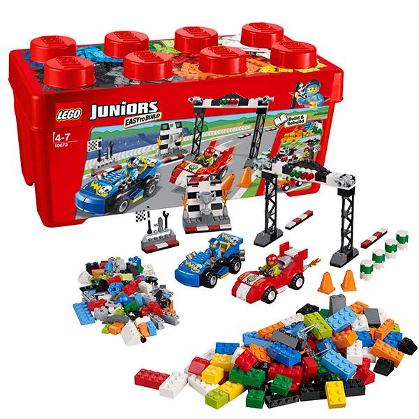Конструктор Lego Juniors (Лего Джуниорс) Ралли на гоночных автомобилях, Lego 10673LEGO Конструкторы<br><br><br>Артикул: 10673<br>Бренд: Lego