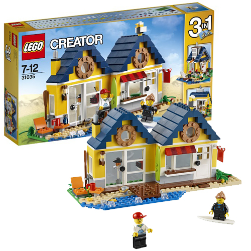 Конструктор Криэйтор Домик на пляже, Lego 31035LEGO Конструкторы<br><br><br>Артикул: 31035<br>Бренд: Lego
