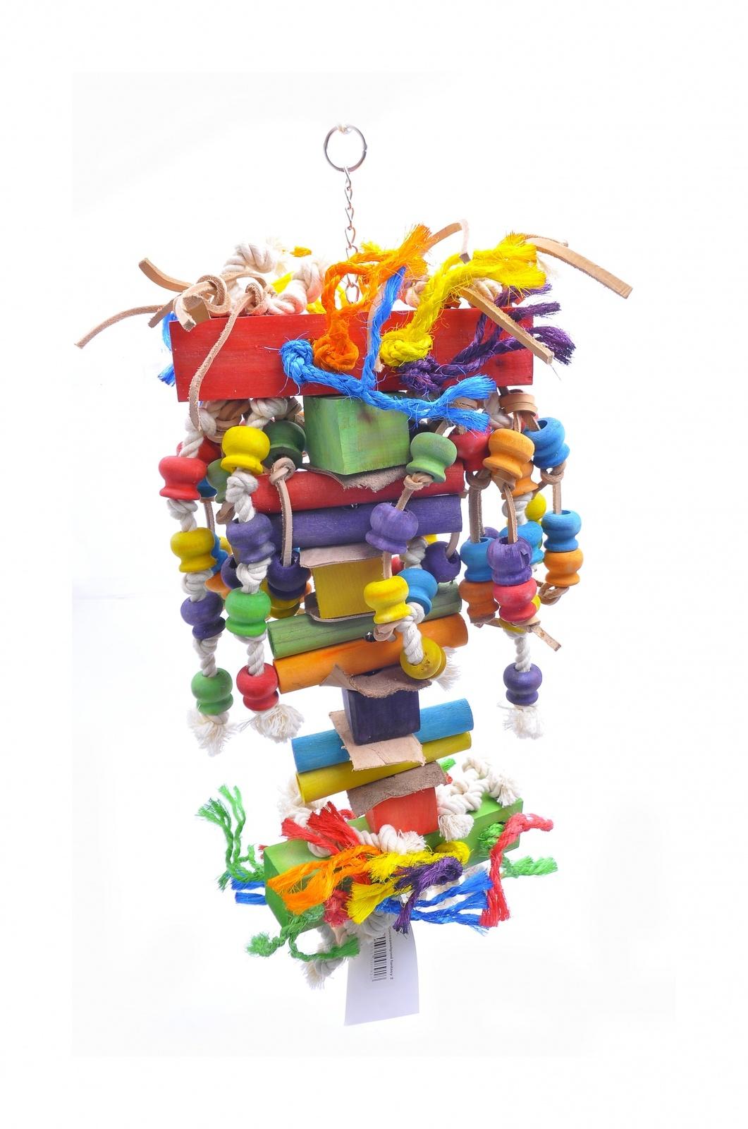 """Benelux Игрушка-дразнилка для длиннохвостых попугаев """"Большая Фантазия"""" 21*28*80 см (Coco toy xxl for parrot/parrakeet Fantasy 2) 14217 от Ravta"""