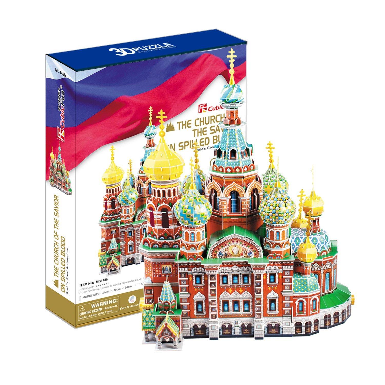Объемный 3d Пазл Собор Воскресения Христова (Россия), CubicFun MC148h от Ravta