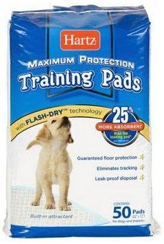 Пеленки Hartz для щенков и собак, 56*56см, 80шт (Training pads) от Ravta