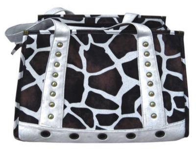 backbone Сумка-переноска Жираф, чер/бел, 38х22х32 см BA7032