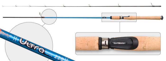 Здесь можно купить Спиннинг штек. уг/пласт. 2 колена Surf Master 3003 Ultra Spin IM8 (1-9) 2,4 м  Спиннинг штек. уг/пласт. 2 колена Surf Master 3003 Ultra Spin IM8 (1-9) 2,4 м