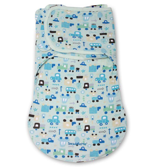 Конверт для пеленания на липучке SwaddleMe WrapSack (цвет - Машинки (размер S)), Summer Infant от Ravta