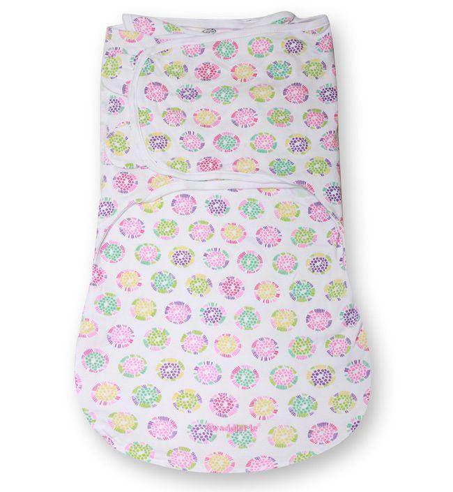 Конверт для пеленания на липучке SwaddleMe WrapSack (цвет - Цветы (размер L)), Summer Infant от Ravta