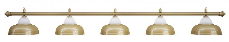 Лампа на пять плафонов Crown D38 (матово-бронзовая)Аксессуары для бильярда<br><br><br>Артикул: 75.019.05.0<br>Бренд: Classic