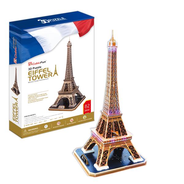 Объемный 3d Пазл Эйфелева Башня (Франция), CubicFun MC091h от Ravta