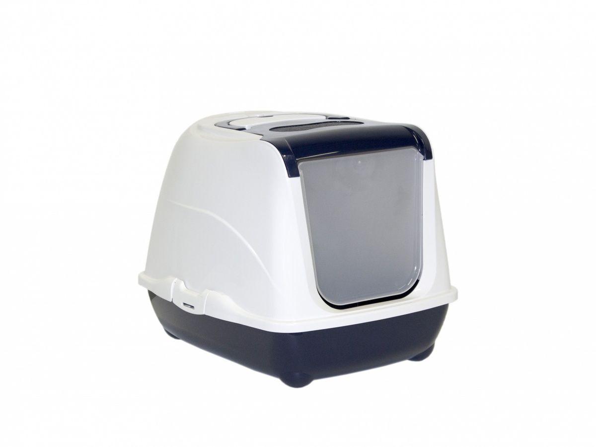 moderna Туалет-домик Moderna Flip с угольным фильтром, 50х39х37см,королевский синий 24644.син