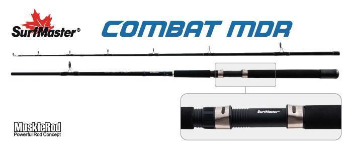 Удилище тролл. ст/пласт. 2 колена Surf Master L1234 Combat MDR 722HS 2-6oz (56-170) 2,19 м от Ravta