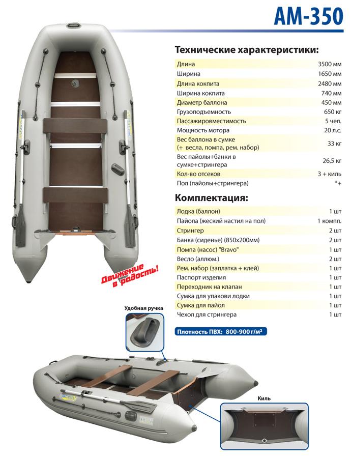 Лодка моторная Адмирал АМ-350 от Ravta