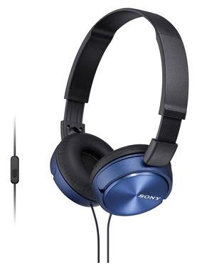 Здесь можно купить Наушники SONY MDR-ZX310 (синий/с микрофоном)  Наушники SONY MDR-ZX310 (синий/с микрофоном) Наушники