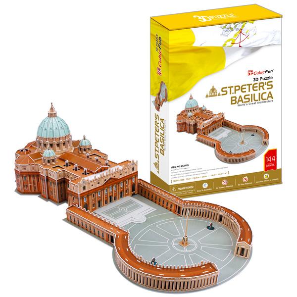 Объемный 3d Пазл Собор Святого Петра (Ватикан, Италия), CubicFun MC092h от Ravta