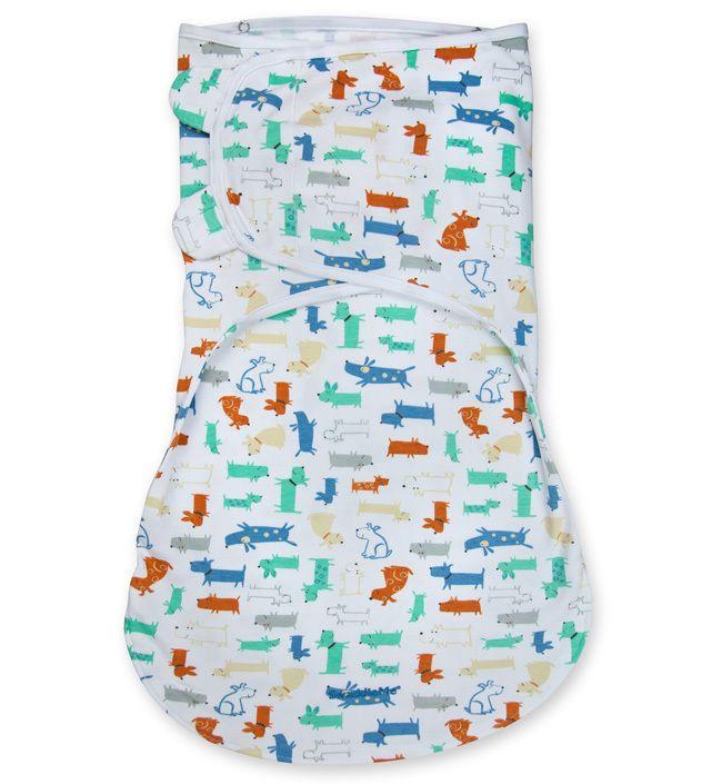 Конверт для пеленания на липучке SwaddleMe WrapSack (цвет - Собачки (размер L)), Summer Infant от Ravta