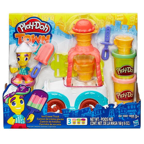 Игровой набор Грузовичок с мороженым PLAY-DOH B3417Игровые наборы для девочек<br><br><br>Артикул: B3417<br>Бренд: Hasbro Play-Doh