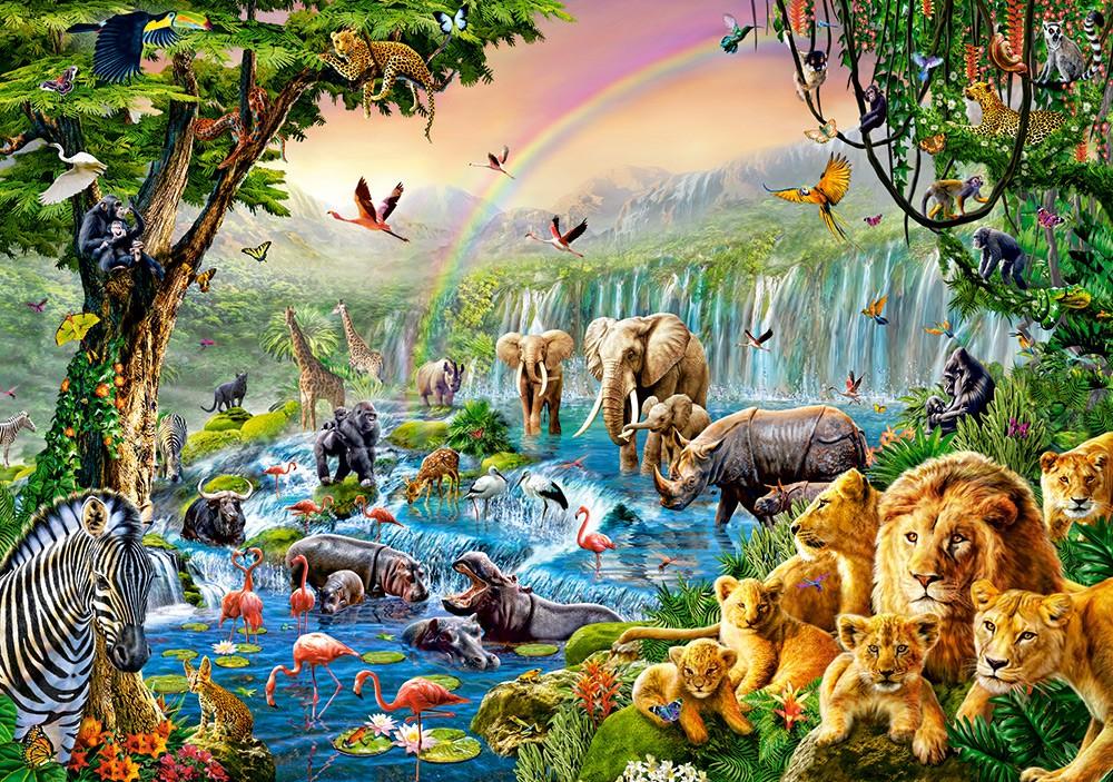 Картинки джунгли детские, открытка для ребенка