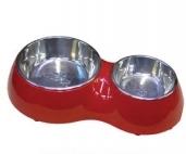 """Чаши металлич. на подставке """"Собака"""", 2 х 0.47 л, красная DPDS-100R от Ravta"""