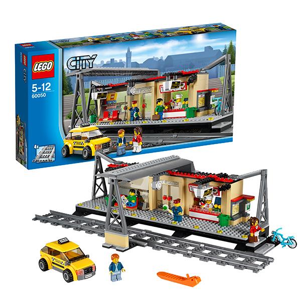 Lego Конструктор Лего Сити (Lego City) Железнодорожная станция, Lego 60050 каши heinz безмолочная гречневая кашка я большой с 12 мес 250 г