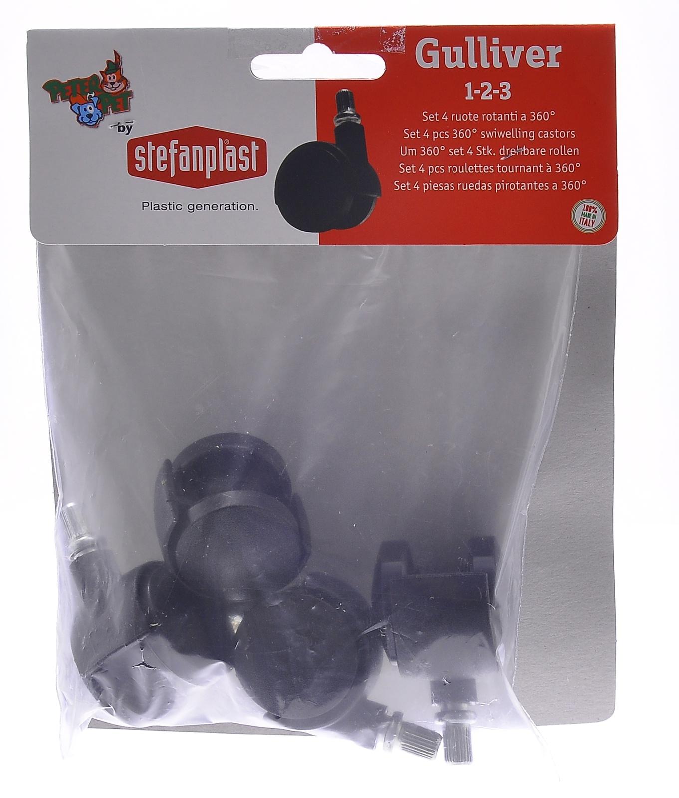 stefanplast Stefanplast Колеса для переносок Gulliver и Gulliver Deluxe 1,2,3 (Set 4 360° castors)96330 10383