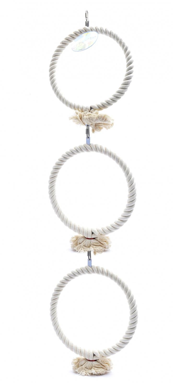"""Benelux Игрушка для попугаев """"Тройное кольцо"""" 3*22 см (Coco medium toy 3 rings) 14437 от Ravta"""