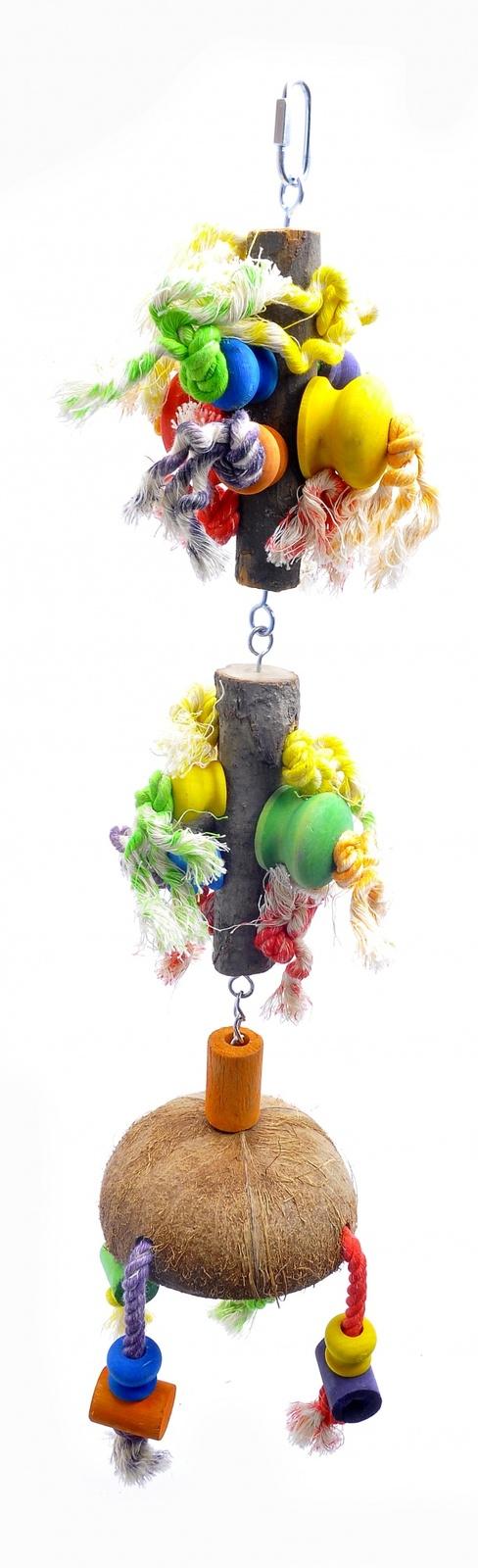 """Benelux Игрушка-дразнилка для длиннохвостых попугаев """"Малая Фантазия"""" малая 13*13*80 см (Coco toy xxl for parrot/parrakeet Fantasy) 14216 от Ravta"""