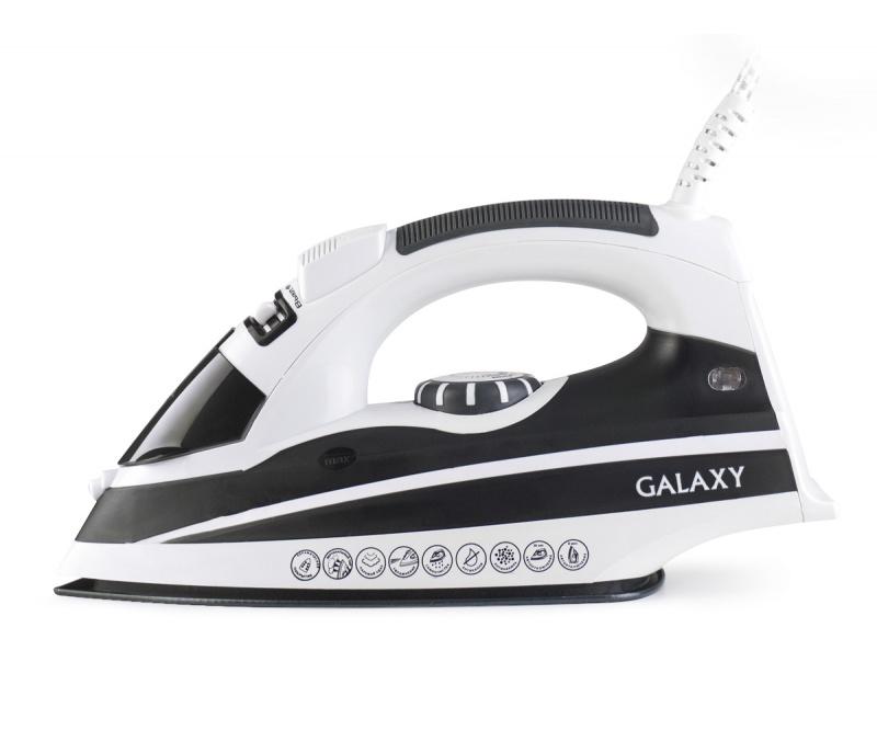 Утюг GALAXY GL 6119 ЧЕРНЫЙ 2200 Вт, керамическое покрытие подошвыУтюги<br><br><br>Артикул: 6198<br>Бренд: Galaxy