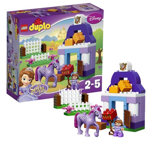 Конструктор Лего Дупло (Lego Duplo) Прекрасная: королевская конюшня Софии, Lego 10594LEGO Конструкторы<br><br><br>Артикул: 10594<br>Бренд: Lego