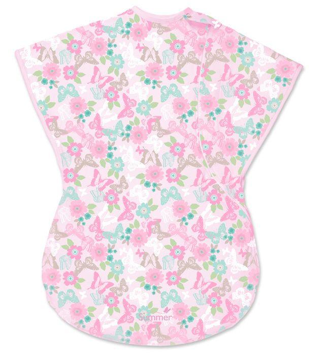 Спальный конверт-мешок ComfortMe Wearable (цвет - Розовый в белый горошек (размер L)), Summer Infant от Ravta