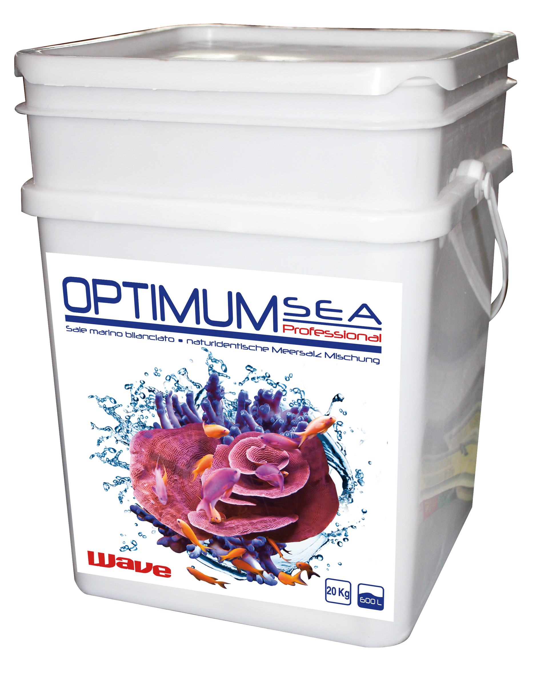Соль д/морск. аквариумов Wave Optimum Sea Professional, 20 кг, на 600 лСредства для ухода за аквариумом<br><br><br>Артикул: A0020524<br>Бренд: Croci<br>Родина бренда: Италия