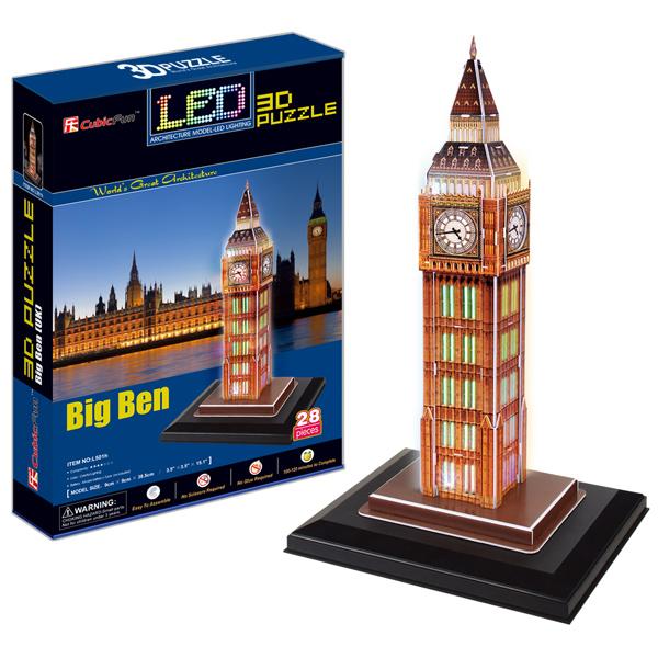 Объемный 3d Пазл Биг бен с иллюминацией (Великобритания), CubicFun L501h от Ravta