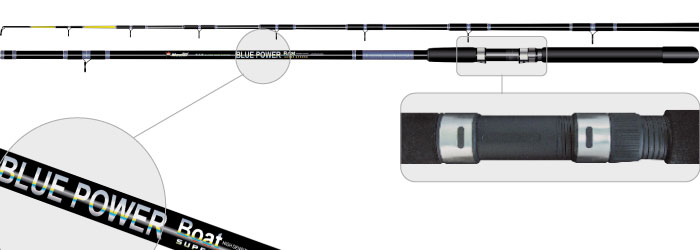 Удилище тролл. ст/пласт. 2 колена Surf Master 1322 Blue Power 4LB 2,1 м от Ravta