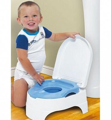 Горшок + стульчик-подножка Summer Infant (2 в 1) (цвет - Голубой), Summer Infant от Ravta