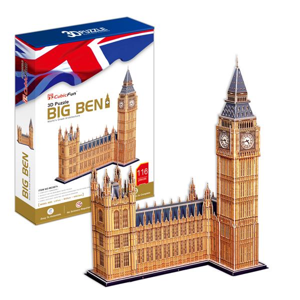Объемный 3d Пазл Биг Бен (Великобритания), CubicFun MC087h от Ravta