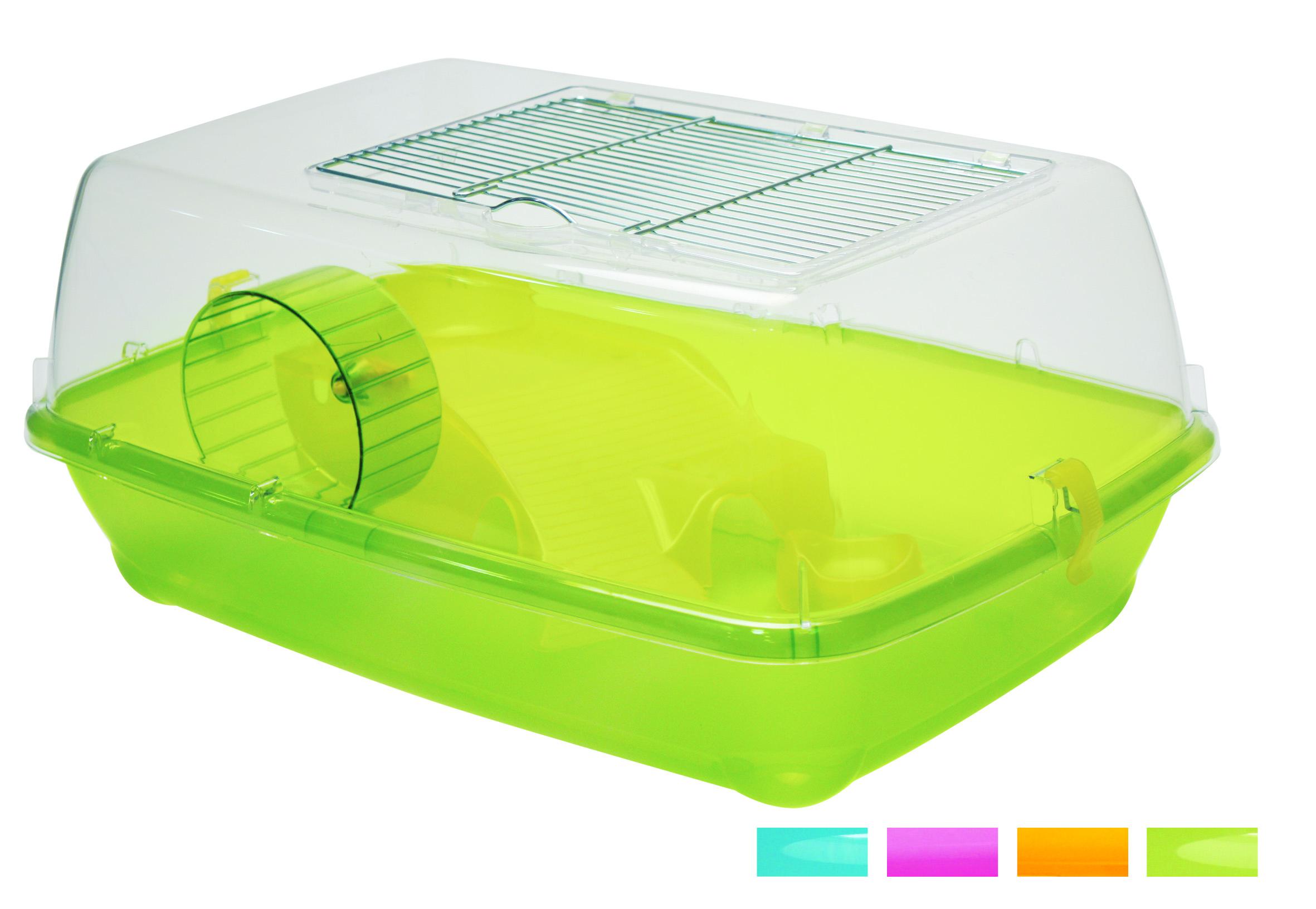 Клетка пластиковая Alvin для грызунов, с аксесс., 57х40х25 см от Ravta