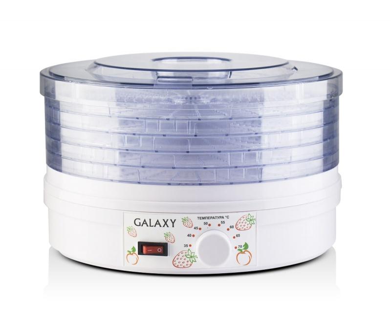 Сушилки для овощей и фруктов GALAXY GL 2633 400 Вт, 5 прозрачных поддонов, объем 11 литров от Ravta