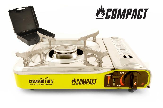 Плитка газовая Comfortika Compact с переходником от Ravta