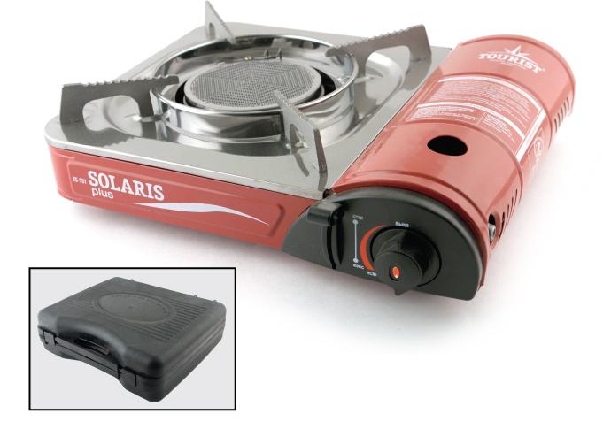 Плитка газовая в чемодане Solaris Plus TS-701 керамич. с переходником от Ravta