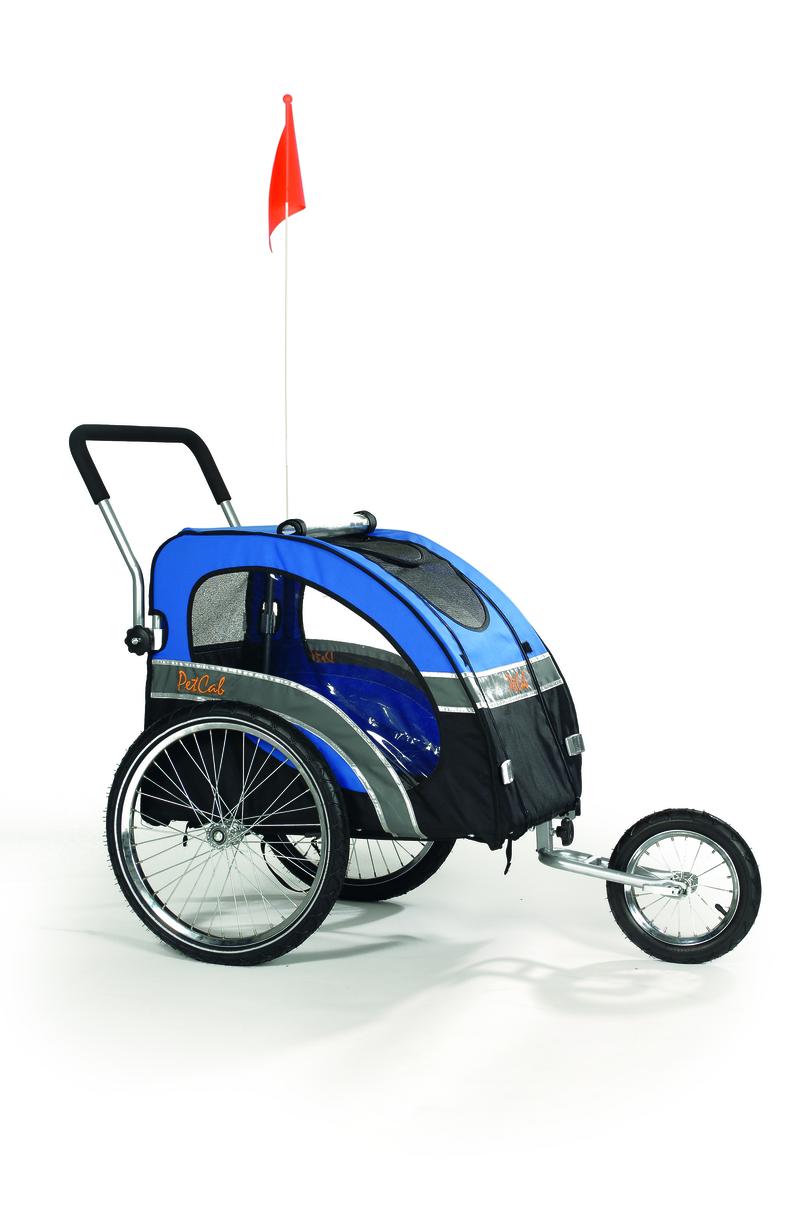 i.p.t.s. Коляска д/перевоз. соб. к велосипеду, до 45 кг, син/чер. 0715581